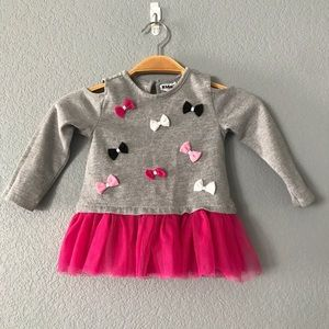 Kids Headquarters 24M silver glitter tutu sweater